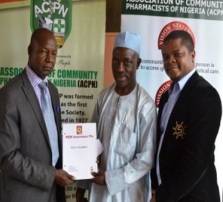 Presentation of professional indemnity policy scheme to Association of community pharmacist of Nigeria