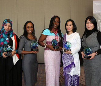 L-R : Dr. Eqbal Mohammed Abdu Dauqan, Dr. Simone Ann Marie Badal McCreath, Dr. Taiwo Olayemi Elufioye, Dr. Leni Ritmaleni, and Dr. Nilufar Mamadalieva.