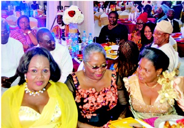 L-R: Dr Stella Okoli, chairman, Chike Okoli Foundation's board of directors; Onyeka Onwenu, executive director of the National Centre for Women Development (NCWD); and Mrs Chirota Egbogah, wife of former special adviser to the president on petroleum matters.