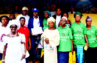 Association of Lady Pharmacists (ALPs), Lagos State Chapter members and Traditional Birth Attendants, Kosofe Local Government Unit, at the ALPs Day of the Pharmacy Week, held at Ikosi Ketu Primary School, Ketu, Lagos.