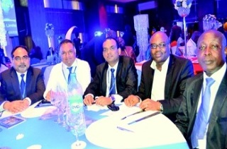 L–R: Mr Sanjay Upadhyaya, head of special business unit, WWCVL; Mr S. Kannan, finance head; Mr Santosh Kumar, head of special business unit; Mr Yemi Olalere, director and Pharm. Lucky Ubokor, regulatory manager
