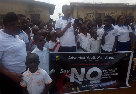 Why Ajegunle Youths Must Desist from Drug Abuse – Adventists, Police Warn