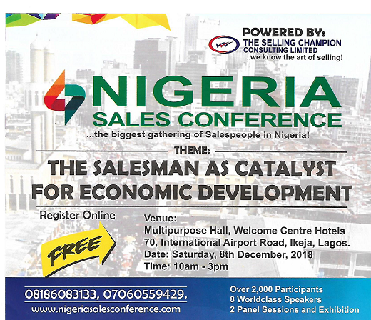 Selling Champion Consulting Holds Nigeria Sales Conference