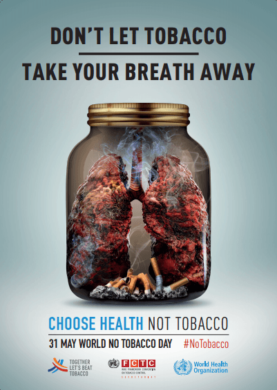 WHO Lists Dangers of Tobacco Smoking on World No Tobacco Day 2019