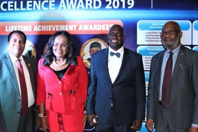 Dr Stella Okoli, chairman, Emzor Group recently honoured with Lifetime Achievement Award by the Nigerian Healthcare Excellence Award (NHEA).