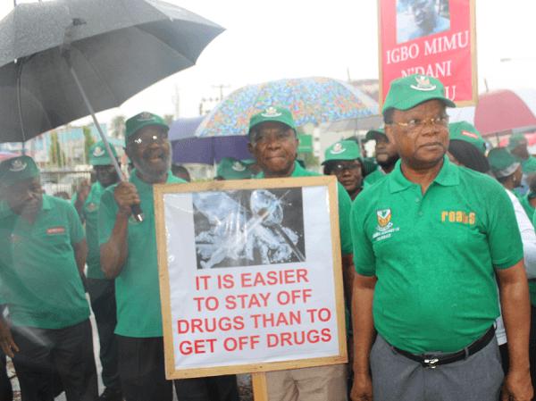 Pharmacists Defy Rain, Walk Against Drug and Substance Abuse