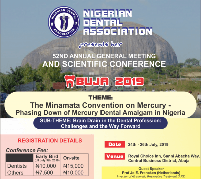 Nigerian Dental Association 52nd Conference Banner