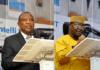 : L-R Mazi Sam Ohuabunwa, president, PSN and Pharm. Olabanji Benedict Obideyi, chairman, ACPN, Lagos State